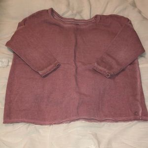American Eagle 3/4 sleeve sweater in Pink  xsmall